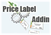 25% OFF Price Label Addin for Microsoft Office Excel (1-Year Single License)