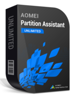 AOMEI Partition Assistant Unlimited + Lifetime Free Upgrades boxshot
