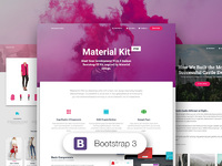 45% OFF Material Kit PRO - Bootstrap 3
