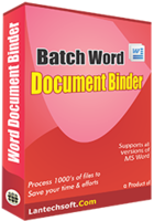 25% OFF Batch Word Document Binder