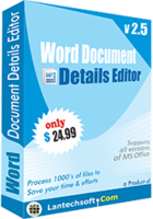 Word Document Details Editor discount coupon