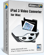 >65% Off Coupon code Aiseesoft iPad 3 Video Converter for Mac