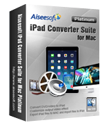 Aiseesoft iPad Converter Suite for Mac Platinum discount coupon