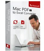Aiseesoft Mac PDF to Excel Converter boxshot