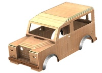 20% OFF Land Rover tot rod car bodyshell CAM files
