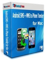 Backuptrans Android SMS + MMS to iPhone Transfer for Mac (Business Edition) discount coupon