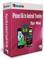cheap Backuptrans iPhone Kik to Android Transfer for Mac (Personal Edition)
