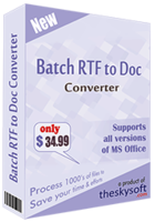 Batch RTF to Doc Converter discount coupon