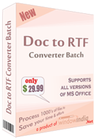 Doc to RTF Converter Batch discount coupon
