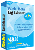 Web Meta Tag Extractor discount coupon