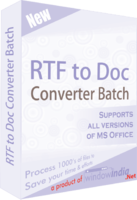 >15% Off Coupon code RTF TO DOC Converter Batch