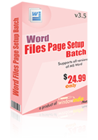 Word File Page Setup Batch discount coupon