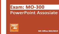 35% OFF MO-300 PowerPoint Associate Exam -  Office 365 & Office 2019 - English version - 25 hours of access