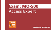 35% OFF MO-500 Access Expert Exam - Office 365 & Office 2019 - English version - 25 hours of access