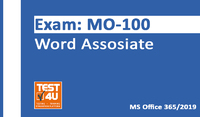 35% OFF MO-100 Word Associate Exam - Office 365 & Office 2019 - English version - 25 hours of access