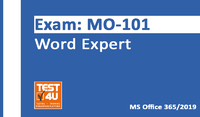 35% OFF MO-101 Word Expert Exam - Office 365 & Office 2019 - English version - 25 hours access