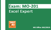 35% OFF MO-201 Excel Expert Exam - Office 365 & Office 2019 - English version - 25 hours of access